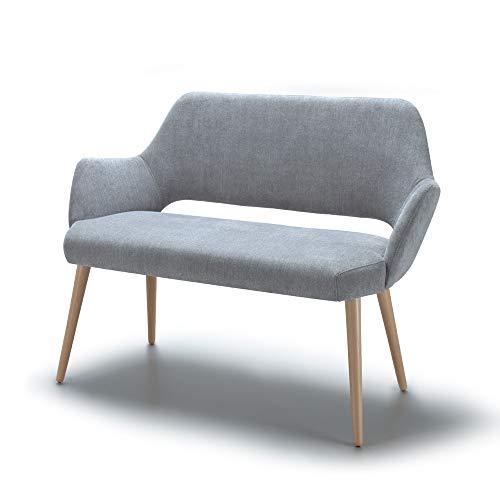 Alkove, divano decorativo modello Andre, colore grigio chiaro