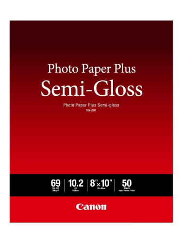 Canon Photo Paper Plus Semi-Gloss 8' x 10' (50 Sheets) (SG-201 8X10)
