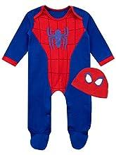 Marvel Conjunto Pijama Entera con Gorro para Niños Bebés El Hombre Araña Azul 3-6 Meses