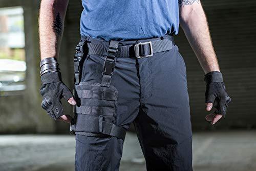 OneTigris MOLLE Beinplatte Taktische Drop Leg Platform für Pistolenholster |MEHRWEG Verpackung (Schwarz)
