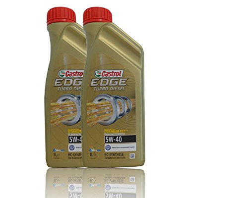 Pack Duo Lubricante Motor Castrol Edge Turbo Diesel 5W-40, 2 litros