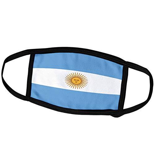 3dRose fm_28218_1 Face Mask Large Gesichtsmaske, Polyester, Flagge Argentinien