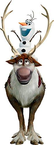Wandtattoo Kinder Olaf Frozen Die Eiskönigin 15130, Hauteur 40cm