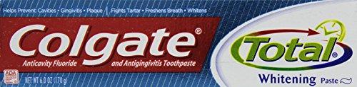 Colgate Total Plus Whitening Anticavity Fluoride and Antigingivitis Paste Toothpaste, 6 oz