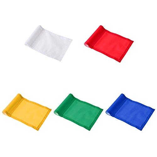 5er Set Golf Flag Set Golffahne Golf Club Trainingshilfe Übungshilfe