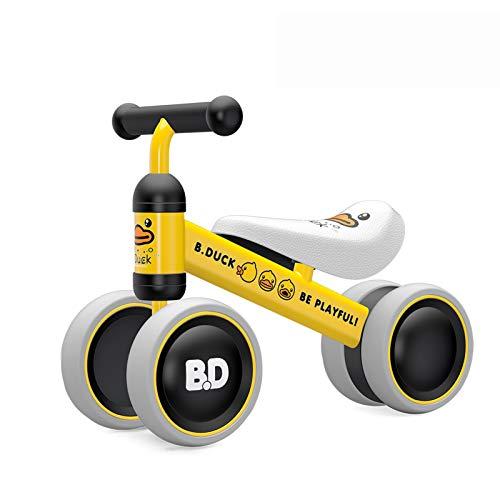 YGJT Biciclette Senza Pedali per Bambini 10 - 24 Mesi, Tricicli Neonati Corridori Giocattoli Regali per Bambini Bicicletta Senza Pedali Bambino (Anatroccolo Giallo)