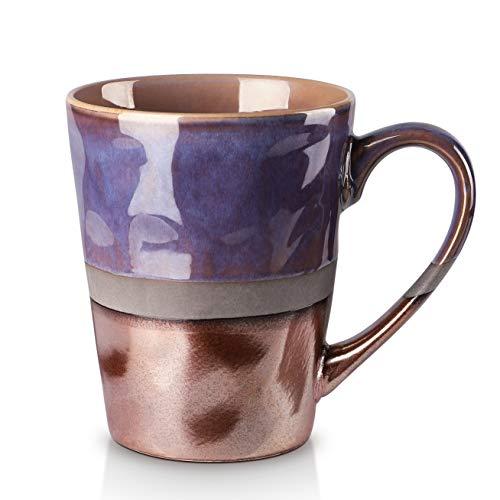 Porcelain Mugs, Blue-golden Style x2