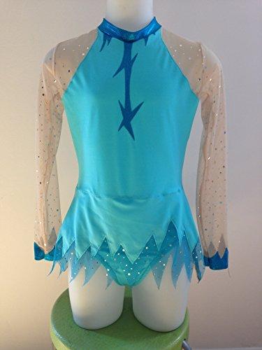 CREATJUSTO Justaucorps GR modele Fanny Blanc//Turquoise