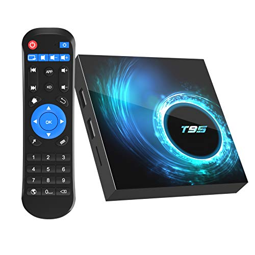 [2020 Upgrade] Android 10.0 TV Box, T95 Android Box 4GB RAM 32GB ROM Allwinner H616 Quad-core Smart Android TV Box 64bit, Support 2.4G/5.0G Dual WiFi 6K Utral HD / 3D / H.265 with Bluetooth 5.0