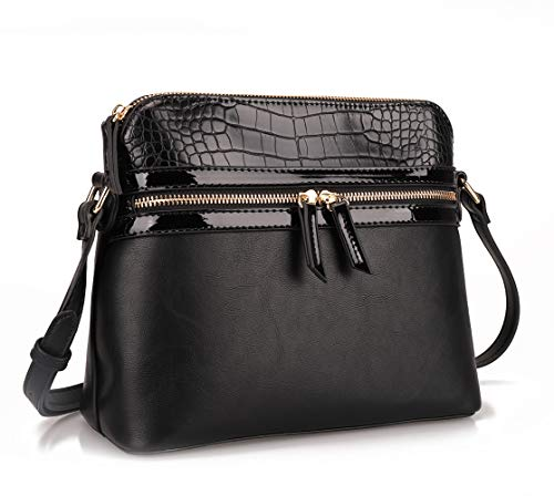 Fashion Women Crossbody Satchel Bag Small Crocodile Purse and Tote Shoulder Handbags -$9.55(36% Off)