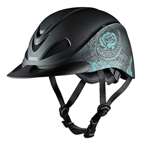 Troxel Rebel Low Profile Western Helmet (Rose Turquoise, Small)