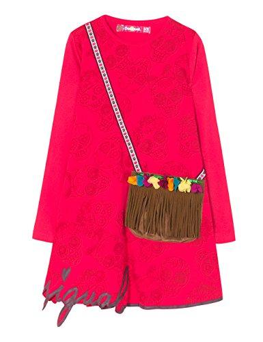 Desigual Vest_adís Abeba Vestido, Rosa (Fuchsia Rose 3022), 152 (Talla del Fabricante: 11/12) para Niñas