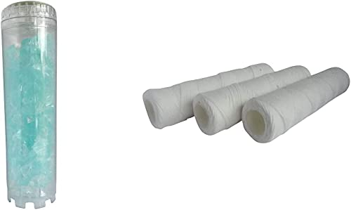 AQUAWATER - Cartouche anticalcaire et anticorrosion en cristaux de silicophosphates à dosage - Pout bol de taille sta...