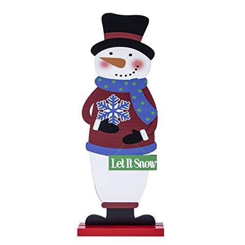 AUXCOO Home Decoration for Christmas Santa Claus Graphic Design Welcome Xmas Display Tree Merry Ornament (Let It Snow)