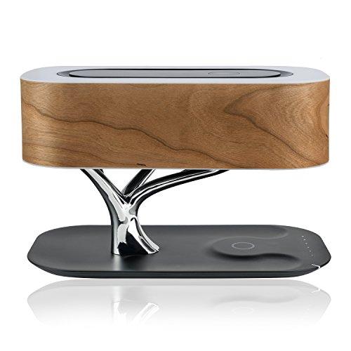 4smarts Induktiv-Ladestation Smart-Bonsai-QI B7 mit BT-Lautsprecher & Lampe schwarz