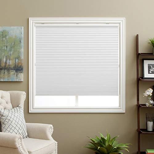 "SBARTAR Cellular Shades Cordless Blackout Honeycomb Blinds Fabric Window Shades White(Blackout), 29"" W x 64"" H"