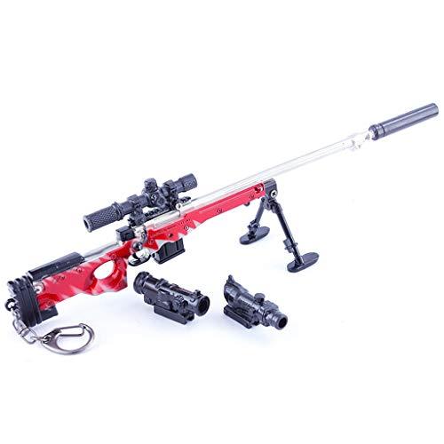 QISUO AWM - Llavero de rifle de francotirador para juego de batalla del ejército coleccionista de regalo para niños, juguete mini figura de arte, decoración de armas