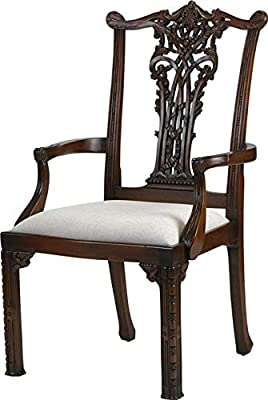 Fantastic Amazon Com Alden Parkes Arm Chair Ribbon Back Carved Wood Ncnpc Chair Design For Home Ncnpcorg