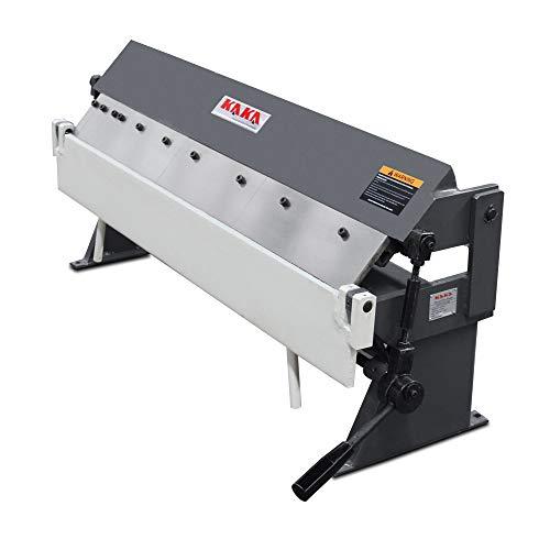 """KAKA Industrial Pan and Box Brake, High Precision, Easy Adjustment Sheet Metal Box Pan Brake, 20 Gauges Sheet Metal Brake (36"""")"""