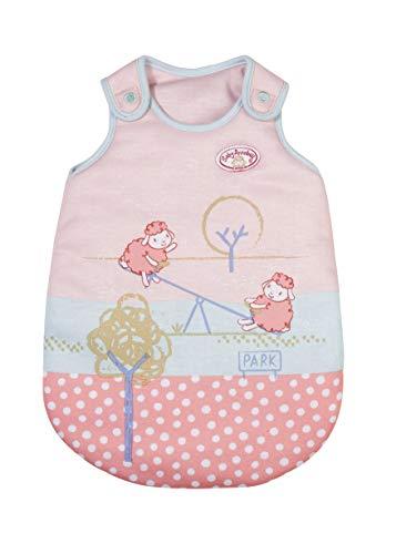 Zapf Creation 705520 Baby Annabell Little Schlafsack 36 cm - rosa Puppenschlafsack mit Klettverschlüssen