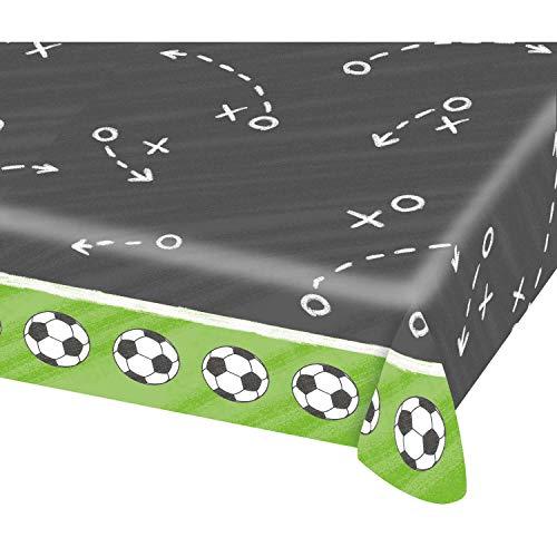 amscan- Mantel, diseño de futbolín, Color Verde