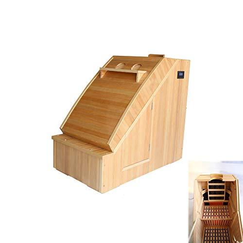 WSN Hölzerne Dampfsauna Spa, persönliche therapeutische Sauna Dampfsauna Personal Spa Körperwärmer Entgiften Abnehmen Mobilheim Zimmer