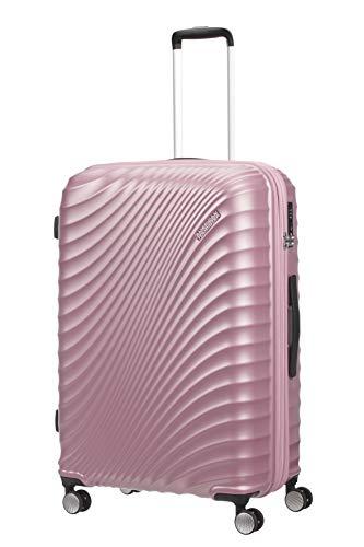 American Tourister Jetglam - Spinner L Extensible Valise, 77 cm, 109 L, Rose (Metallic Pink)