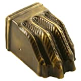 Large Stamped Antique Brass Furniture Leg Claw Foot Toe Cap | Clawfoot to Protect Feet of Table, Dresser, Sofa or Other Modern & Antique Furniture | CS-9AB (1)