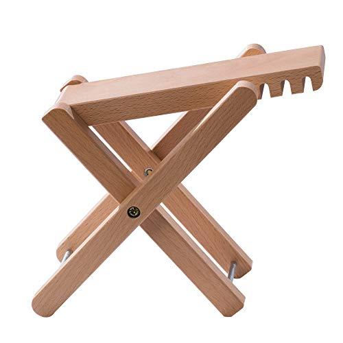 Rayzm Gitarren Fußhocker aus Holz, Klassische Höhenverstellbare Fußablage mit Vier Einstellbaren Stufen, Holzschemel für Banjo und Gitarre