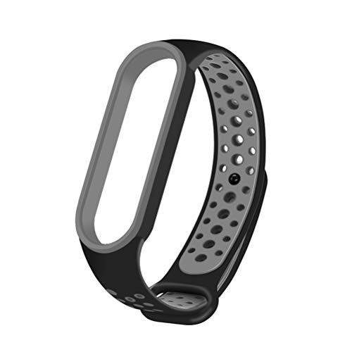 Anewu Cinturino di Ricambio Compatibile per Xiaomi Mi Band 5, Cinturino in Silicone Cinturino di Ricambio Regolabile Cinturino Compatibile per Xiaomi Mi Band 5 Accessori Cinturino da Polso NFC Smart