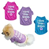 3 Piezas de Ropa de Verano para Perros y Gatos, algodón Puro, impresión en inglés, Ropa para Perros, Chaleco, Camiseta (L)