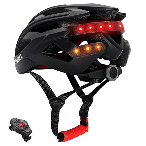 livall BH60SE2018Smart bicicleta Bluetooth Casco manillar inalámbrico con mando a distancia, Unisex, 55-61 cm, Negro