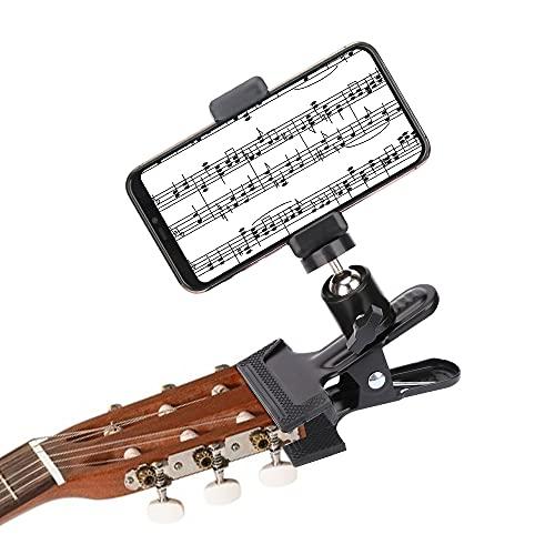 Victop Supporto Telefono Universale Porta Cellulare da Scrivania 360 Gradi Suppot Cellulare da Tavolo Flessibile Mini Supporto per Fotocamera con Clip a Molla per Chitarra Smartphone Tablet Riprese