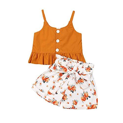 Baby Meisje Kleding Kid Meisje Outfit Kleding Katoen T-Shirt Top+Bloemen Shorts Broek Peuter Baby Zomer Kleding Set