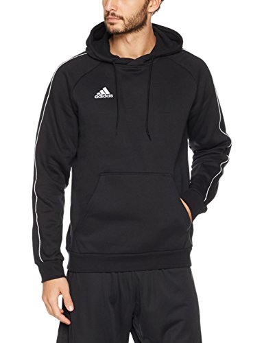 adidas Herren CORE18 Hoody Sweatshirt, Black/White, XL