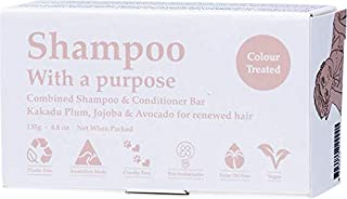 Shampoo with A Purpose Shampoo & Conditioner Bar for Colour Treated Hair, 135 Grams