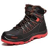 PAQOZKC Botas de Seguridad para Invierno Zapatos de Seguridad para Hombre con Puntera de Acero Zapatillas de Seguridad Mujer Impermeable Calzado de Industrial y Deportiva(608/black//warm/43)