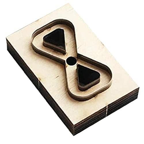 Ohomr Bricolaje de Madera Die Mold Herramientas de Cuero de Cuero Correa del Bolso de Cuero de fabricación para Manual de Bricolaje Crafts L