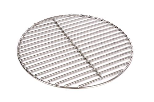 Massiver Grillrost Ø 37 cm aus Edelstahl rostfrei und elektropoliert 6 mm für Grill rund, Kugelgrill, Feuerschalen Grillschalen Rundgrill