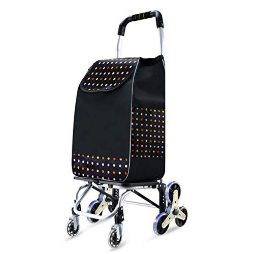 Storage Shopping Trolley Trailer Hand Luggage Cart Household Small Pull Cart Crystal Wheel Aluminum Alloy Foldable Bearing Weight 50kg Kitchen Trolley