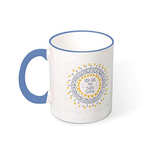XJJ88 You Are My Sunshine Water Koffie Mok Bekers met Handvat Keramische Novelty Bekers - Hanukkah Present, Geschikt voor Restaurant gebruik (11 oz)