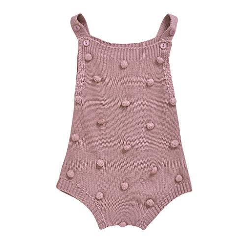 WEXCV Unisex Baby Strampler Mädchen Jungen Latzhose Romper Bib Pants Outfits Hosenträger Gestrickt Schultergurt Baumwoll Sweatshirt Kinder Overalls für 3M-3Y