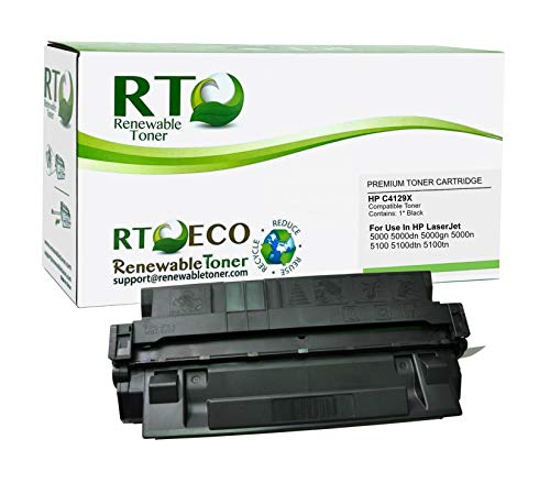 Renewable Toner Compatible Toner Cartridge High Yield Replacement for HP 29X C4129X for Laserjet 5000 5100 Printers 29a Color Print Cartridge