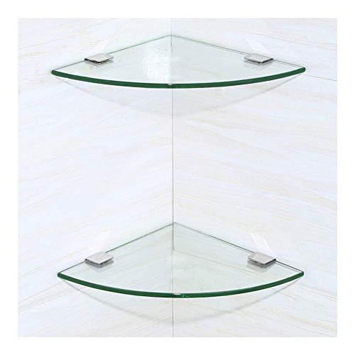 ZWJ Hoekglas badkamer/slaapkamer plank gehard driehoek glas keuken accessoires verstelbaar eenvoudige montage IM