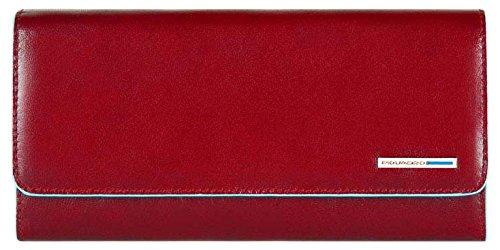 Piquadro Portafoglio Donna Collezione Blue Square Portamonete, Pelle, Rosso, 20 cm