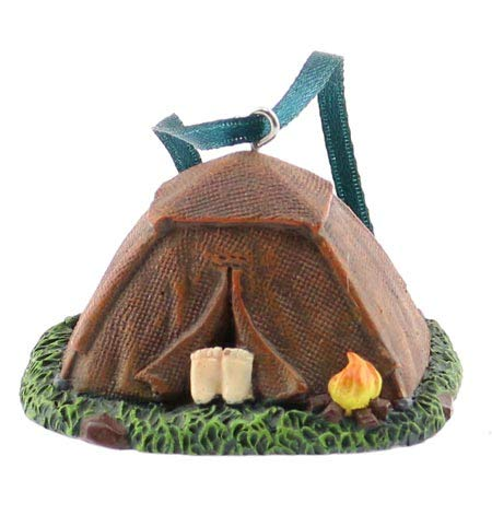 Rustic Axentz Canping Dome Tent Figure Collectible Ornament, 3', Hanging Tree Decoration