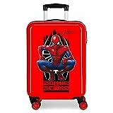 Marvel Spiderman Geo Valise Trolley Cabine Rouge 37x55x20 cms Rigide ABS Serrure à combinaison 34L 2,6Kgs 4 roues doubles Bagage à main