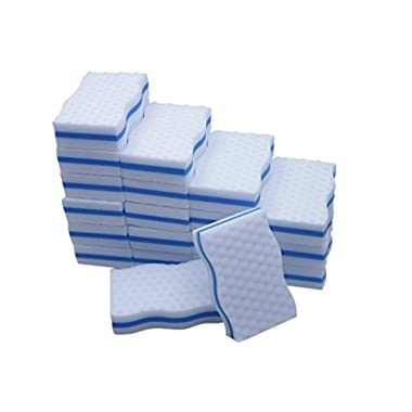 LTWHOME Magic Eraser Kitchen & Dish Scrubber Dual Sided Cleaning Melamine Foam 100X 60X 25mm (Pack of 20)
