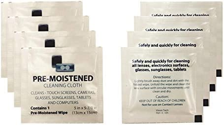 Premoistened Lens Wipes Don't miss the campaign - Bulk Pack Tech 400 New sales 2 Vision Count