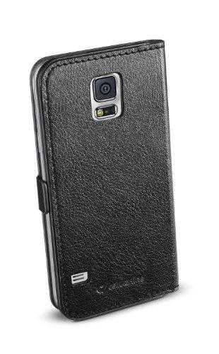 Cellular Line BOOKESSENGALS5BK Kunstleder Buchklapptasche für Samsung Galaxy S5 (Magnetverschluss, Buchformat, volle Bedienbarkeit) schwarz-Sortiment